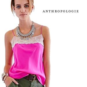 Anthropologie-By Pins & Needles Pink Slip/Top XS