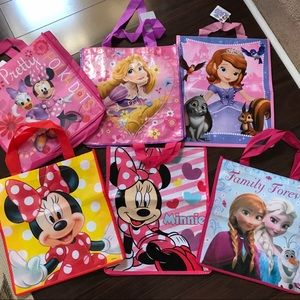 Lot Of 6 Reusable Disney Bags Most NWT
