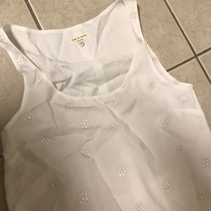 Rag & Bone embellished tank size small