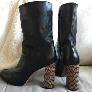 Zara black leather boots