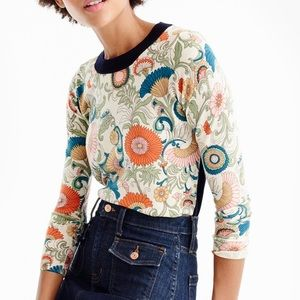 J. Crew Tippi Sweater in Ornate Floral print