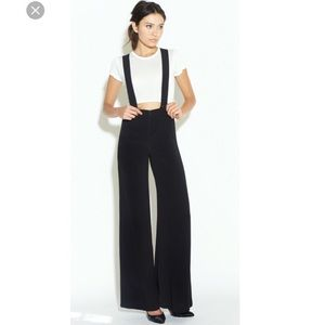 Reformation black suspenders trousers XS / 0