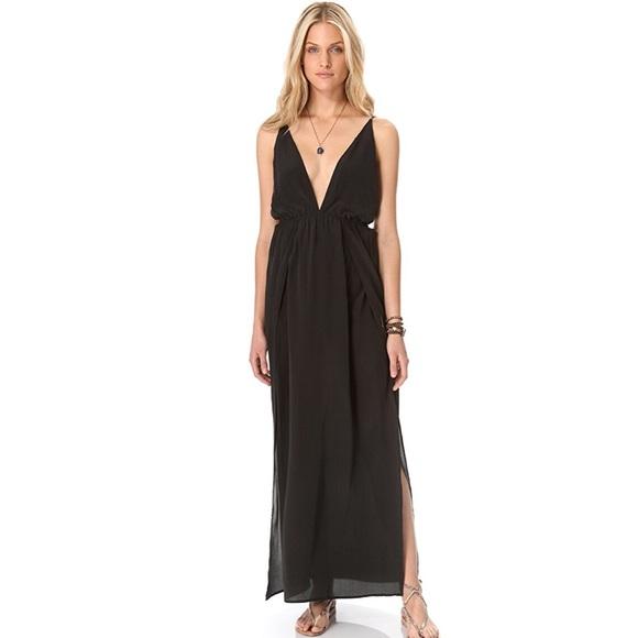 c9941193cd Indah Dresses   Skirts - Indah River split maxi dress in black