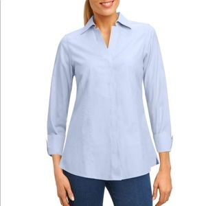 Foxcroft•Button Shirt Women•No-Iron Fitted