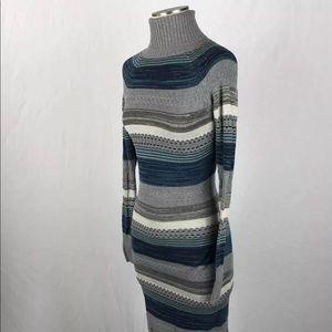 Moda International Turtleneck Sweater Maxi Dress