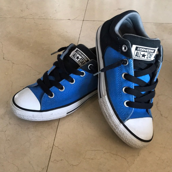 Blue And Black Converse Sneakers | Poshmark