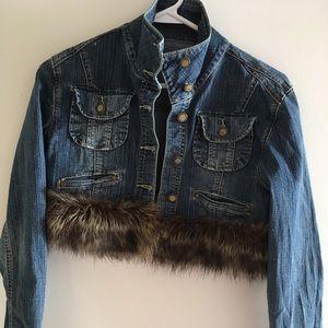 Crop Top Jean Jacket & Capri Pants Med