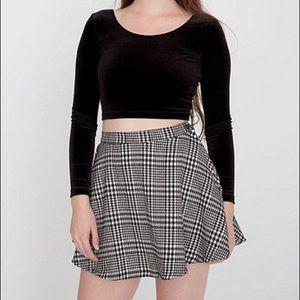American apparel AA plaid skater circle skirt