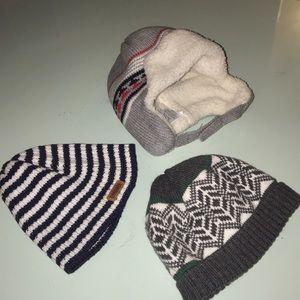 3 EUC Gymboree infant winter hats