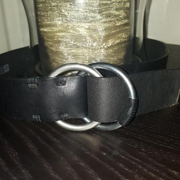 405b97fb339a0 GAP Accessories | Genuine Leather Black Double Buckle Belt | Poshmark