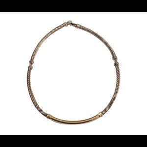David Yurman gold & silver choker necklace