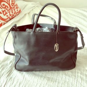 Black leather crossbody Furla bag