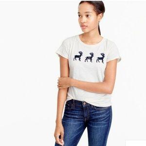 J.Crew Factory Lace reindeer t-shirt