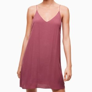 Aritzia Wilfred Free Vivienne Slip Dress Dark Red