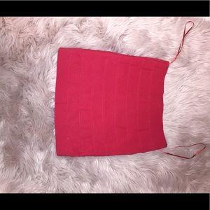 Red Tobi mini skirt