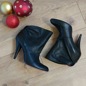 BCBG Maxazria Castia all Leather Black booties