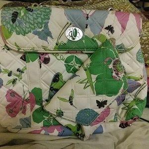 Vera Bradley satchel butterfly purse wallet bundle