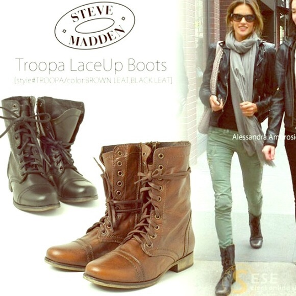 4ae9dbcc6bc Steve Madden Troopa Combat Boots