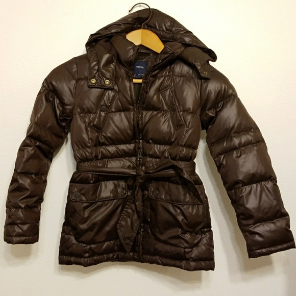 cf2a83e05 Gap Kids Belted Downfilled Puffer Jacket
