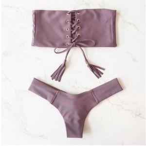 Strapless Tie Bikini