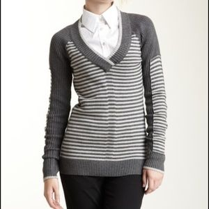 L.A.M.B. Cashmere and cotton striped sweater