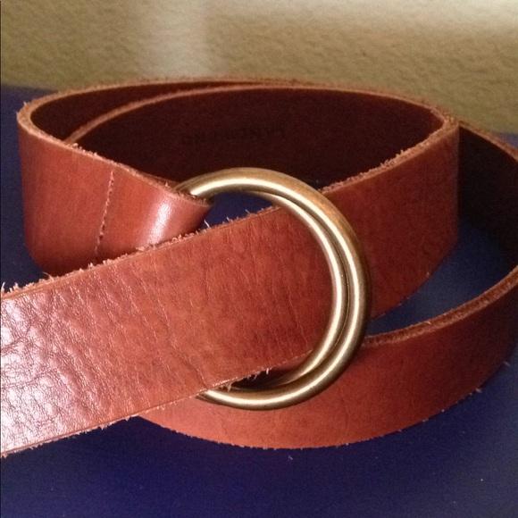 Womens Skinny Leather Belt - XS - BLACK Lands End kVhNHNs