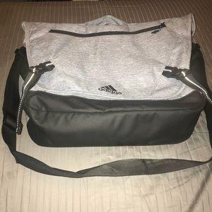 Grey Adidas Messenger Bookbag