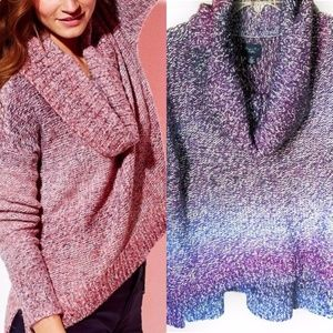 *AMERICAN EAGLE* ombré cowl neck sweater Like new!