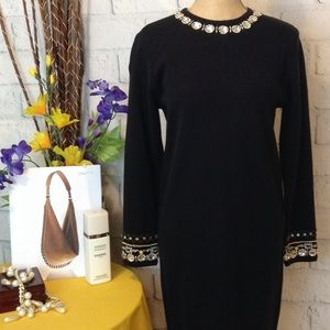 Dresses & Skirts - ⬇️  JEWELED PONTE KNIT SHIFT DRESS