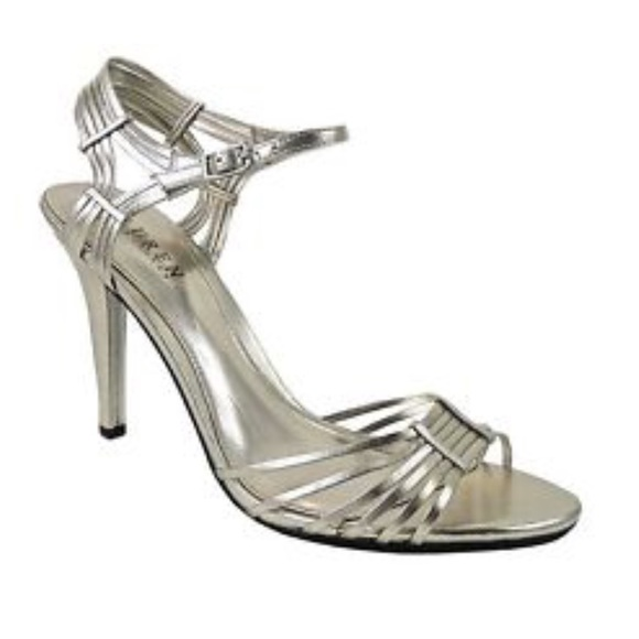 e41c49845c8 Ralph Lauren Adalira Silver Strappy Heels