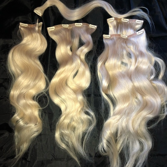 Foxy Locks Accessories Platinum Blonde 24 Human Hair Extensions