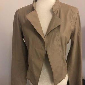 Trouve Tan Leather Jacket