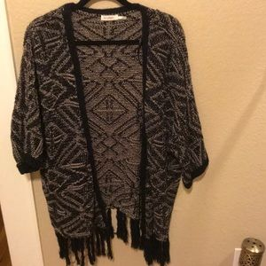 Black and white cardigan sweater small