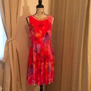 Covington Floral Pattern Fit and Flare Size 8