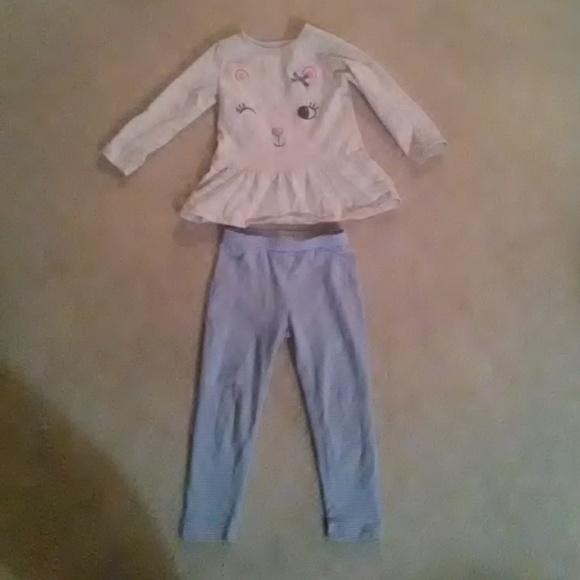 Carter/'s NWT 3M 18M Infant Girl Neon Top Tunic /& Pant Legging Set $24