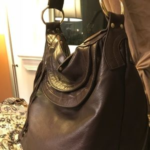 """Bulga""  leather handbag (large)"