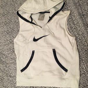 White nike logo workout vest