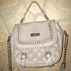 BCBG Paris Grey Quilted Crossbody bag