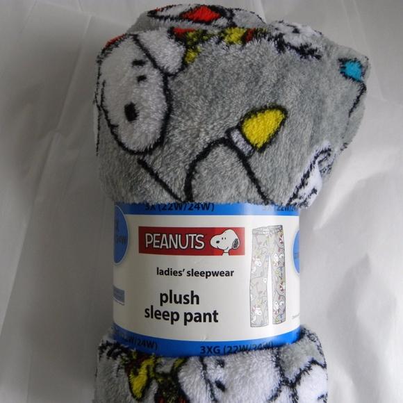 335b00294b 3X Women s Plush Sleep Pant Christmas Snoopy