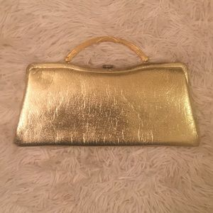 Vintage Gold Retro 1950 Glam Small Purse