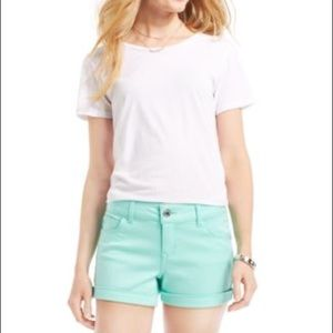 Celebrity Pink Jeans brand lucite green shorts