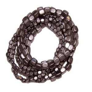 Jewelry - Matte silver stretch bracelet set