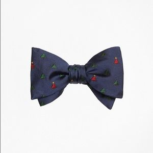 Brooks Brothers Navy Christmas Tree Bow Tie