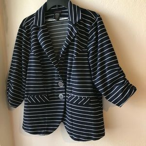 Navy with white strips Fall Dress Jacket size 2
