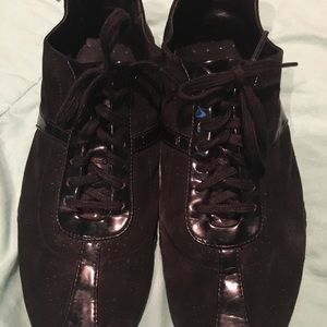 Cole Haan Black suede and paten leather  Sneakers