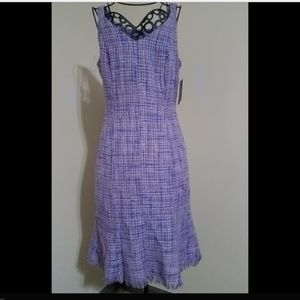 Muse Dress Lilac Shimmer Sleeveless Fringe NWT