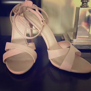 Topshop nude strappy sandal