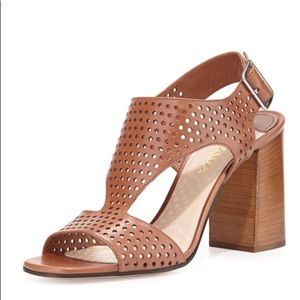 Prada Perforated Leather Sandal - Neiman Marcus