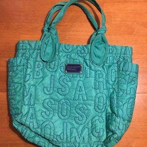 MARC JACOBS Emerald & Blue Tote Bag
