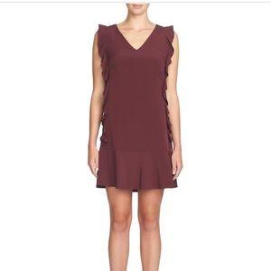 CeCe by Cynthia Steffe Plush Plum Ruffle Dress